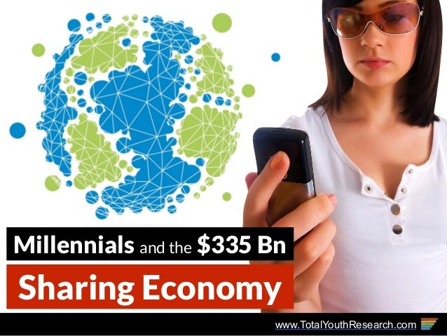 www.TotalYouthResearch.com Sharing Economy Millennials and the $335 Bn