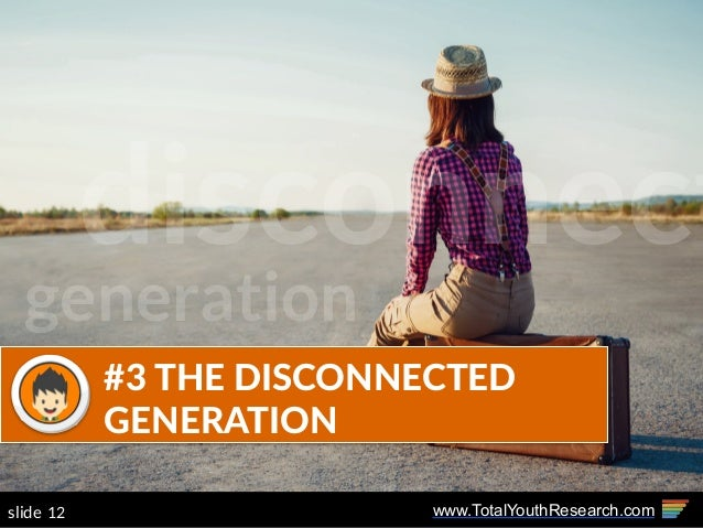 www.TotalYouthResearch.com12slide #3  THE  DISCONNECTED   GENERATION disconnect generation