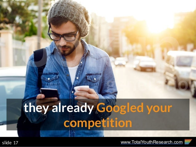 www.TotalYouthResearch.com17slide they already Googled your competition lookupgeneration