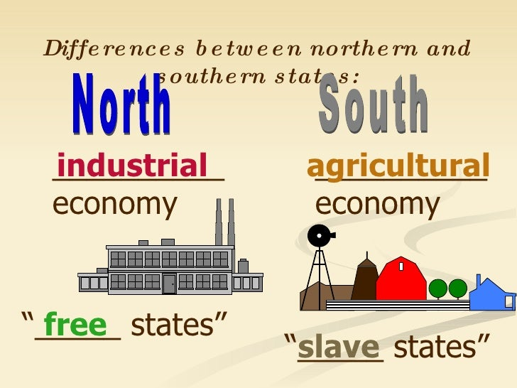 Differences between North and South during Civil War - ESL ... |Civil War North And South Differences