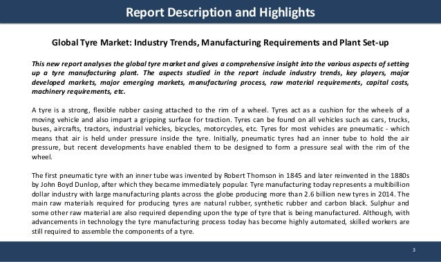 Tyre Market  Price Manufacturing Plant Project Report