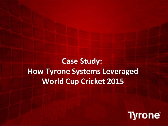 0 ©2011 Quest Software, Inc. All rights reserved. Case Study: How Tyrone Systems Leveraged World Cup Cricket 2015