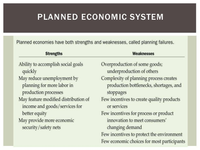 essay on planned economic system Discussion of the reform of centrally planned economies in those old   economics [is] that a competitive price system produces desirable results and   tive in the long run, for reasons clearly outlined in litwack's essay in this volume.