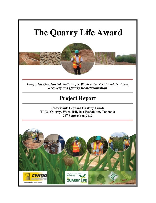 Integrated constructed wetland for wastewater treatment rainwater ha the quarry life award integrated constructed wetland for wastewater treatment nutrient recovery and quarry re sciox Gallery