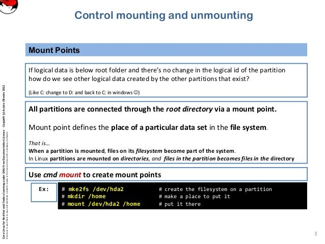 101 4 3 control mounting and unmounting of filesystems
