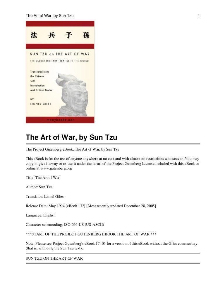 The Art of War, by Sun Tzu                                                                                    1The Art of ...