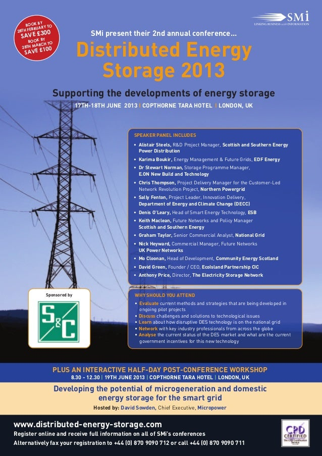 Distributed Energy                                 Storage 2013                      Supporting the developments of energy...