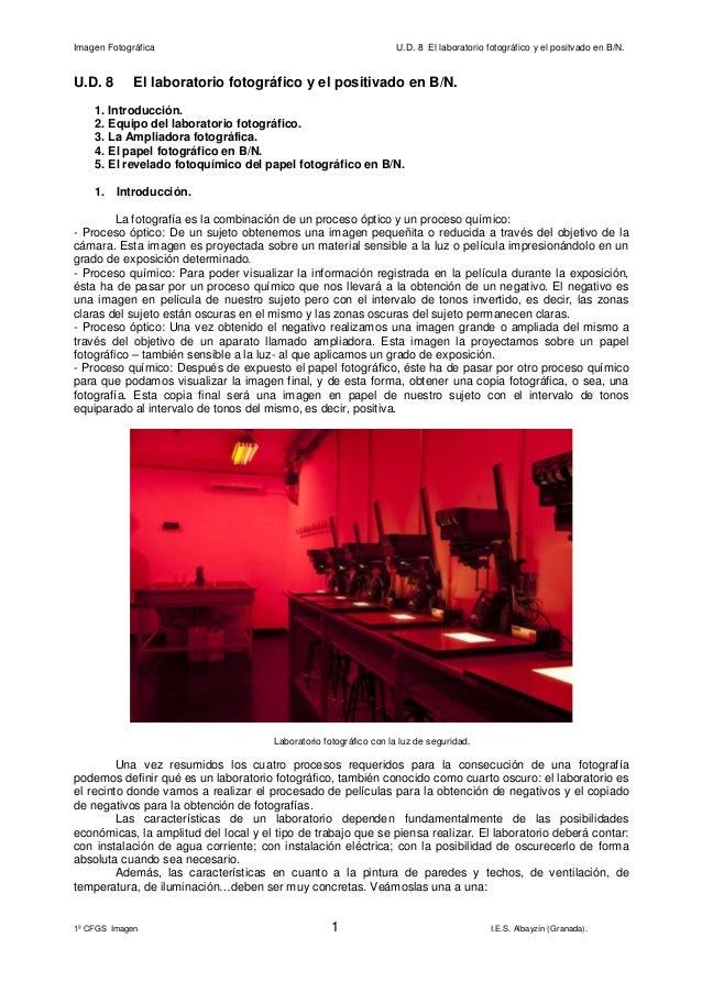 el laboratorio fotográfico y el positivado en blanco y negro