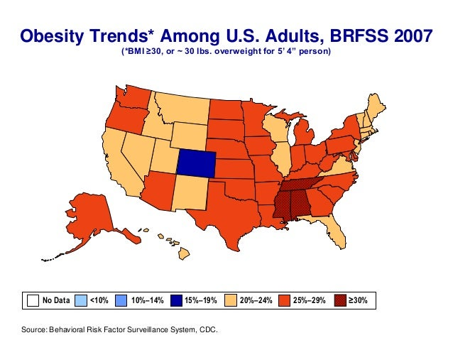 CDC US Obesity Trends Maps - Maps obesity us