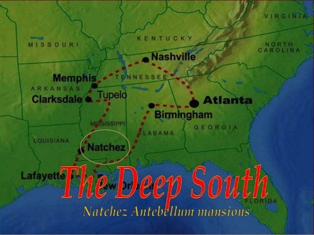 US The Deep South Natchez antebellum mansions