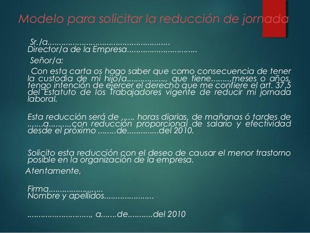 Carta De Reduccion De Horario Laboral Best Quotes B