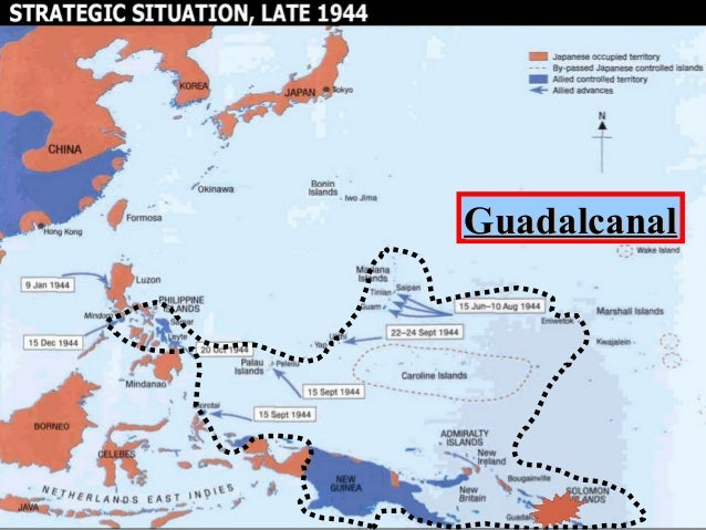 Island Hopping Map Wwii