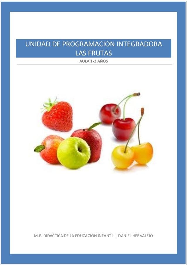 AULA 1-2 AÑOS M.P. DIDACTICA DE LA EDUCACION INFANTIL   DANIEL HERVALEJO UNIDAD DE PROGRAMACION INTEGRADORA LAS FRUTAS