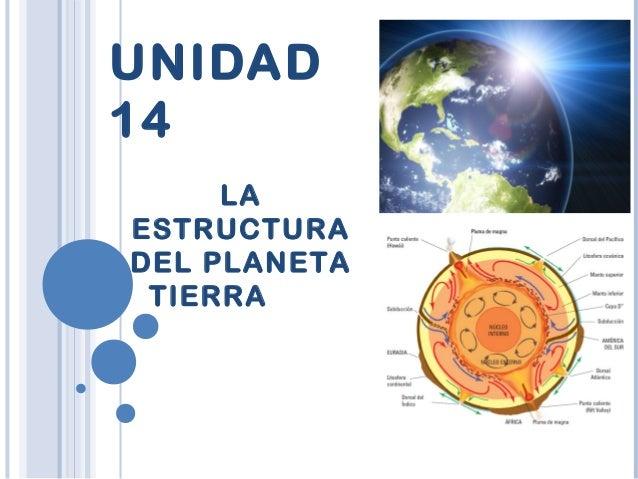 UNIDAD 14 LA ESTRUCTURA DEL PLANETA TIERRA