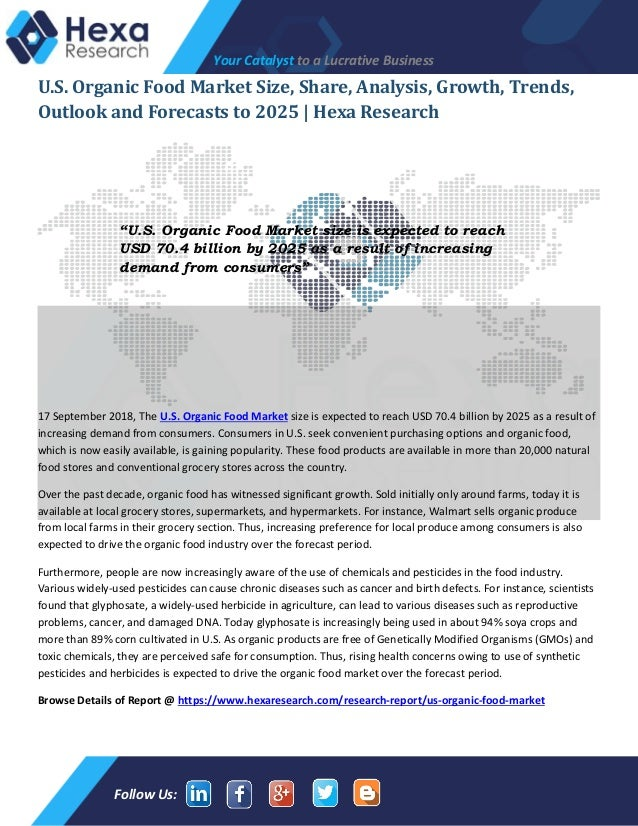 U S  Organic Food Market Size, Industry Growth and Trend Analysis, 20…