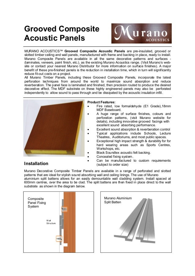 Murano Grooved composite panel