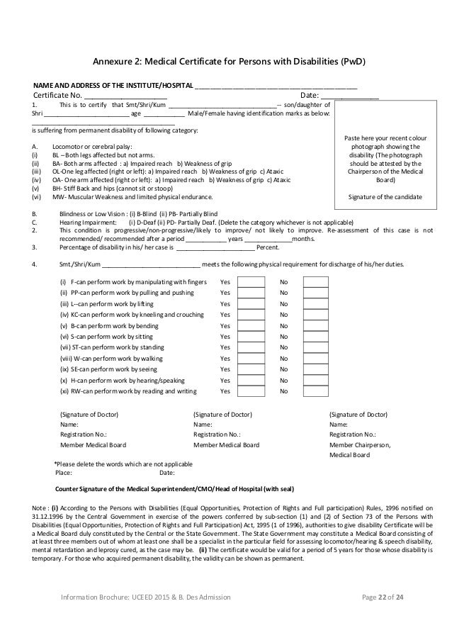 Medical Certificate From Doctor Format For Medical Certificate From