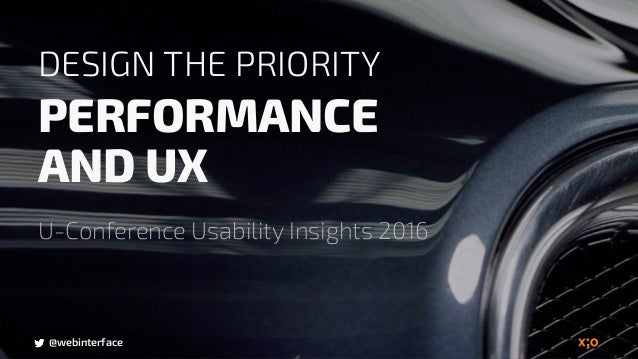@webinterface DESIGN THE PRIORITY PERFORMANCE 