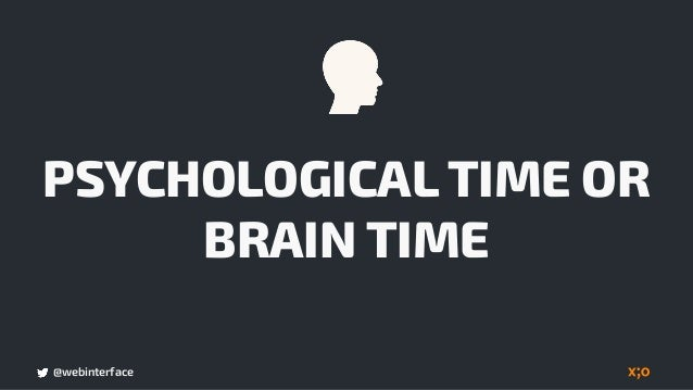 @webinterface TIME TO INTERACT AND LOAD TIME USER´ S PERCEPTION  OF TIME vs.
