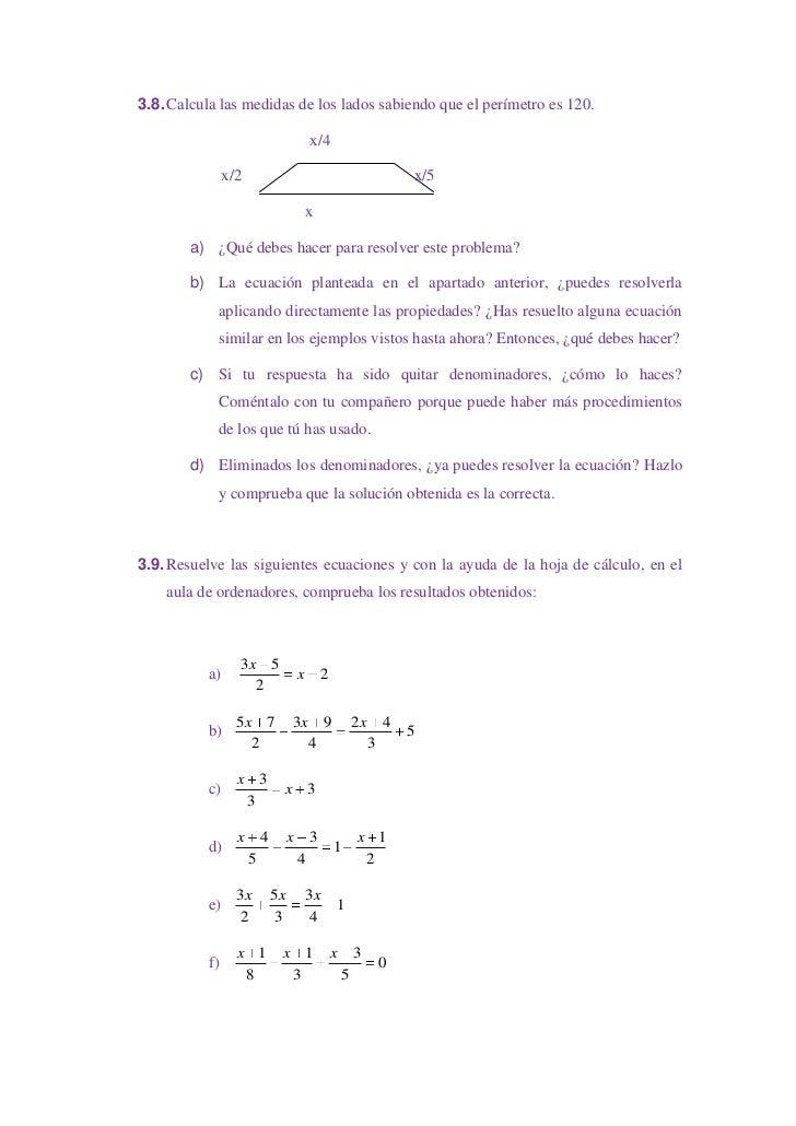 U.d. 04 ecuaciones de 1º grado