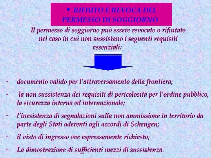 U d 1 ingresso e soggiorno dello straniero for Permesso di soggiorno schengen