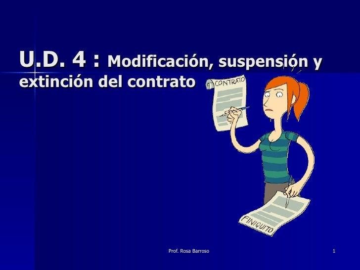 U.D. 4 :  Modificación, suspensión y extinción del contrato