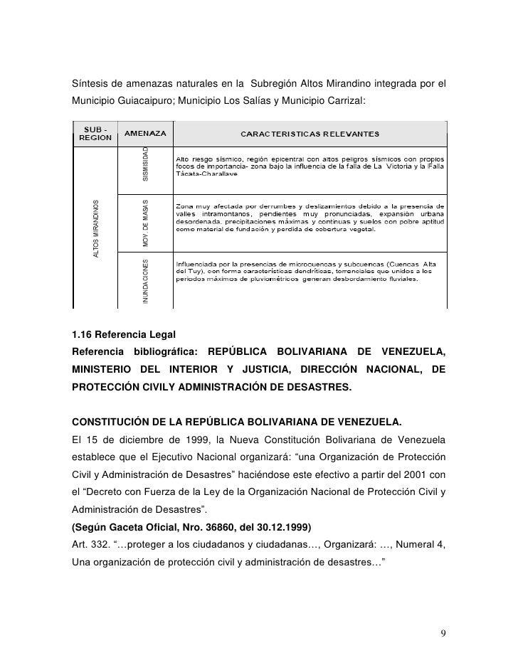 U E Territorio Delta Amacuro Plan De Emergencia Escolar