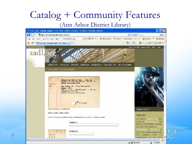Catalog + Community Features (Ann Arbor District Library)
