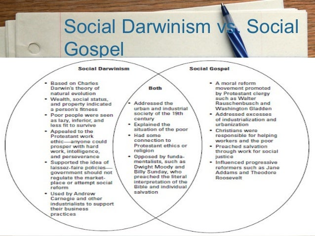 social darwinism vs social gospel essay Check out our top free essays on social darwinism to help you write your own essay social darwinism vs gospel of wealth increase of wages during this era.