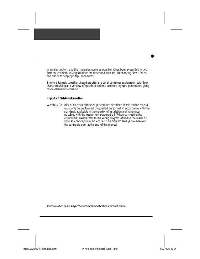 U spa techbook Pool Heater Wiring Diagram With Gfc on