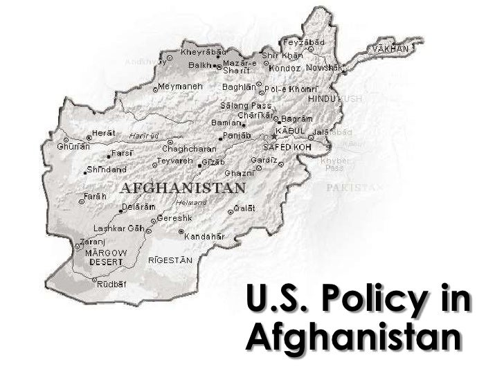 U.S. Policy inAfghanistan