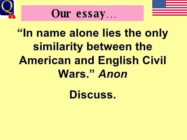 english civil war essays