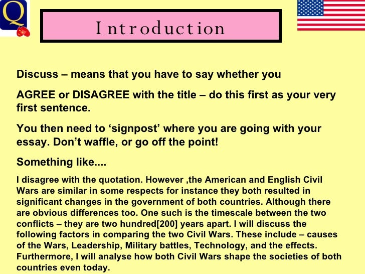 War essay introduction