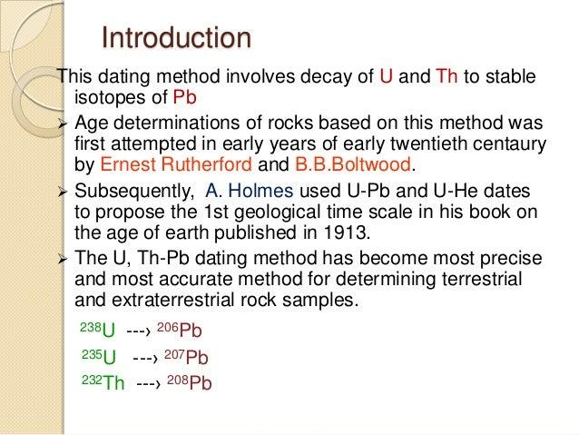 U-pb dating