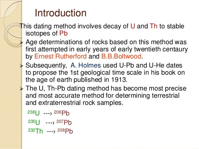 U pb dating method