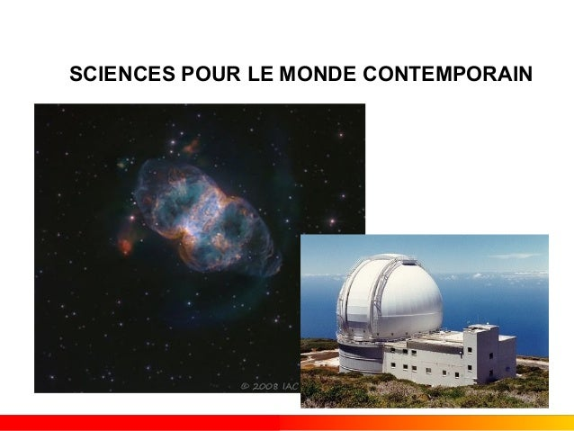 SCIENCES POUR LE MONDE CONTEMPORAIN