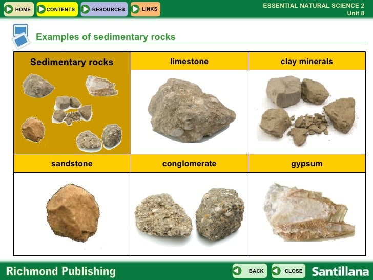 Image Gallery sedimentary examples