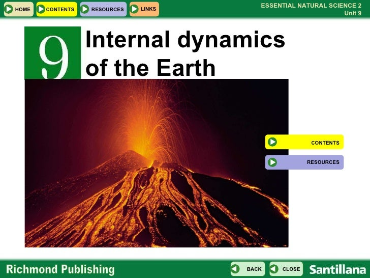 Internal dynamics of the Earth CONTENTS RESOURCES