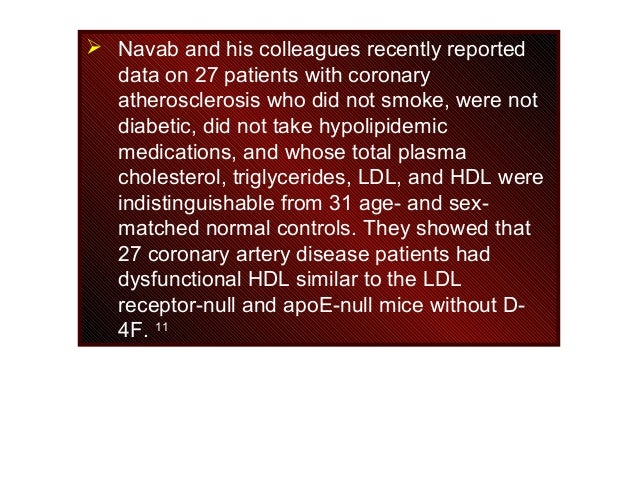  Navab and his colleagues recently reported data on 27 patients with coronary atherosclerosis who did not smoke, were not...