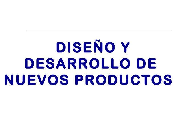 Dise o y desarrollo de nuevos productos for Diseno de producto