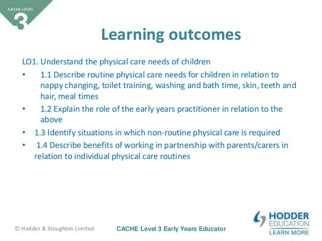 unit 3 supporting children level 3 Unit 37 wb (h/505/9822) support children's transition to school the learning outcomes for this unit are: understand 'school readiness' in relation to the role of the early years.