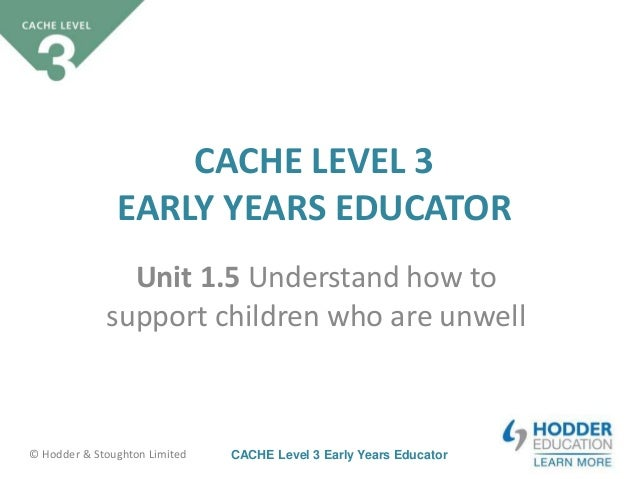 cache level 3 assignment 1 Open document below is an essay on childcare cache level 3 unit 1 assignment from anti essays, your source for research papers, essays, and term paper examples.