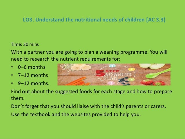 plan meals for young children that meet their nutritional needs