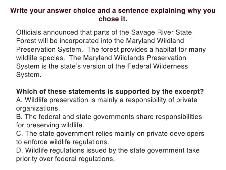 Write your answer choice and a sentence explaining why you                          chose it.  Officials announced that par...
