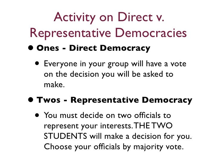 essay on direct democracy