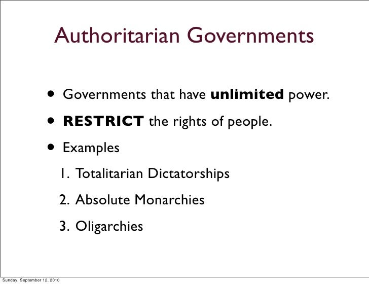 Democracy vs Authoritarian Characteristics