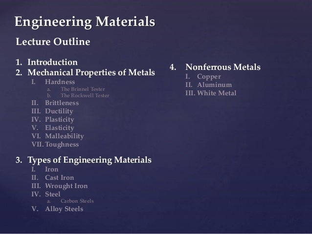 Study notes power engineering 4th class basic properties of engin engineering materials 3 sciox Gallery