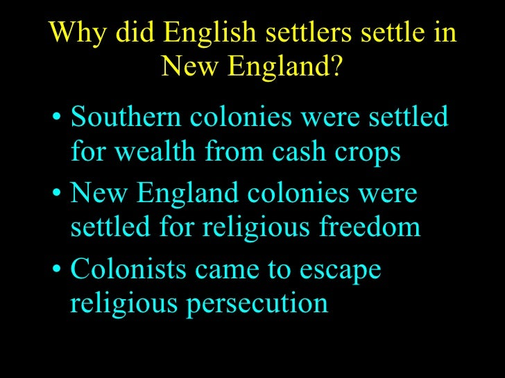 why did colonial chesapeake differ from new england Professionally written essays on this topic: differences between new england and chesapeake settlers north american english colonial societies.