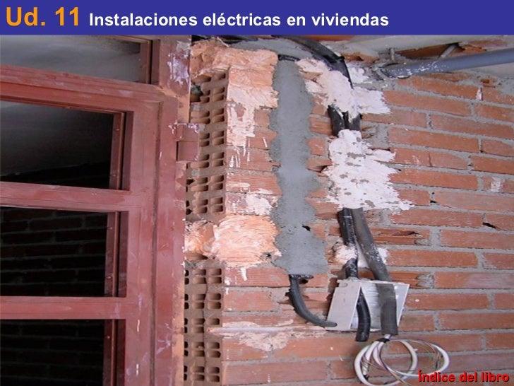 Índice del libro Ud. 11  Instalaciones eléctricas en viviendas