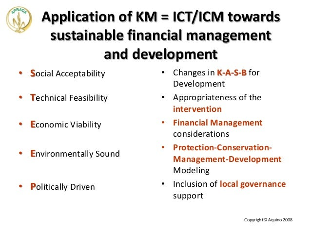 sustaining knowledge management Knowledge management best practices – to ensure proper km implementation learn all the dos and don'ts of km and the impact of different knowledge types, km systems, and organizational culture.